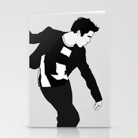 darren criss Stationery Cards featuring Darren Criss Dancing! by byebyesally