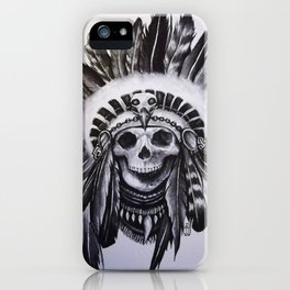 Native American Skull iPhone Case