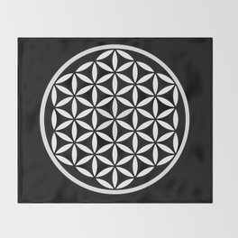 Flower of Life Yin Yang Throw Blanket
