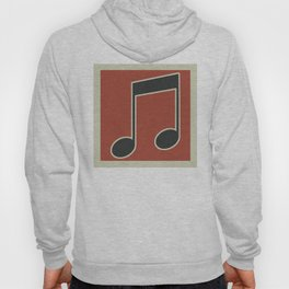 eighth note red Hoody