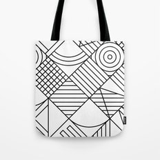 Whackadoodle White and black Tote Bag