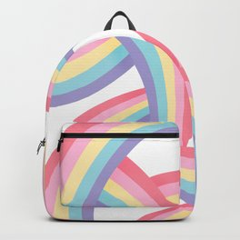 Rainbow abstract pattern Backpack