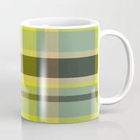 yellow pattern Mugs featuring Pattern Yellow by Fine2art