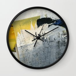 Mellow Yellow Texture Collage Wall Clock