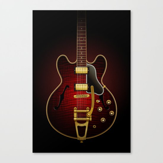 Electric Guitar ES 335 Flamed Maple Canvas Print