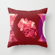 Circular Floral Throw Pillow