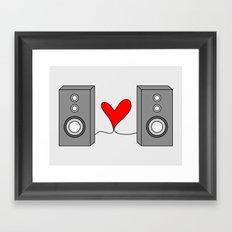 Music is all you need. Framed Art Print