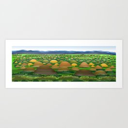 Chocolate Hill Art Print