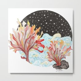 Starry Coral Metal Print