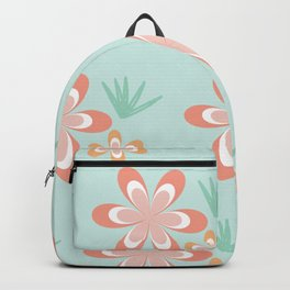 Retro Tropical Flowers Backpack