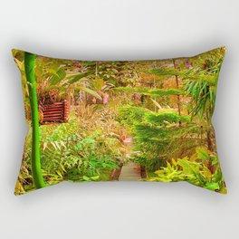 Tropical Green House - Autumn Palette  Rectangular Pillow