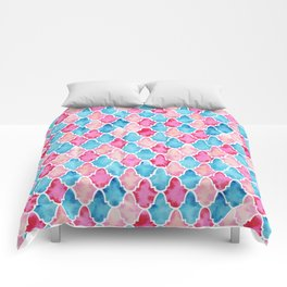 Colorful Moroccan style pattern Comforters
