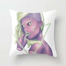 Mint Green Punk Throw Pillow