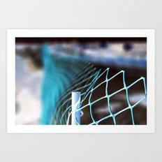 Fading blue Art Print