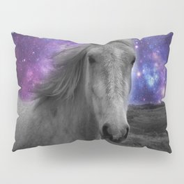 Horse Rides & Galaxy skies muted Pillow Sham