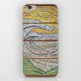 Waves on Grain iPhone Skin