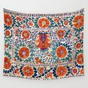 Shakhrisyabz Suzani Uzbekistan Antique Embroidery Print by vickybragomitchell