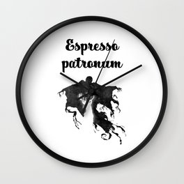Espresso Patronum - calligraphy Wall Clock