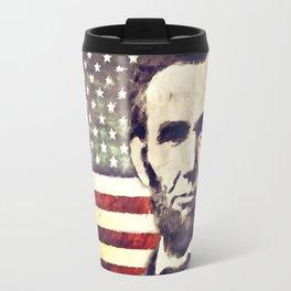 Patriot President Abraham Lincoln Travel Mug