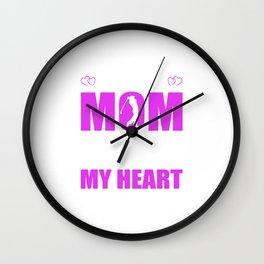 Golf Moms Full Heart Mothers Day T-Shirt Wall Clock