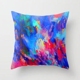 Blue Fire Throw Pillow