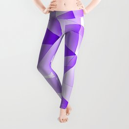Repetitive overlapping sheets of light violet paper triangles. Leggings