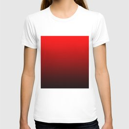 hard contrasted red luminosity T-shirt
