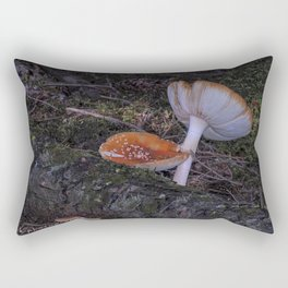 forest mushrooms in sweden Rectangular Pillow