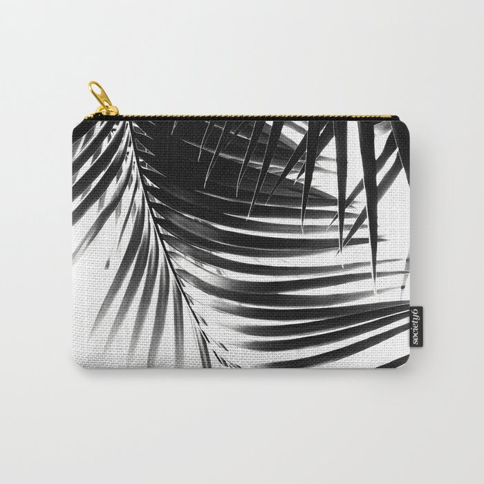 Palm Leaves Black & White Vibes #1 #tropical #decor #art #society6 Carry-All Pouch