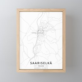 Saariselka, Finland - Light Framed Mini Art Print