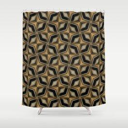 Earthman | Geometric Diamonds Shower Curtain