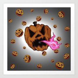 Soul Eater Jack o'lantern . Halloween Pumpkin Art Print