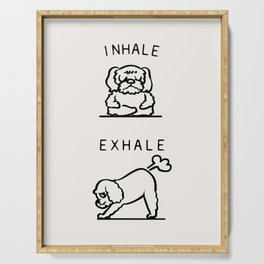Inhale Exhale Cockapoo Serving Tray