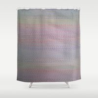 numbers Shower Curtains featuring Numbers by Melissa Roberts