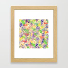 many colorful strokes painted Framed Art Print