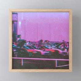 Cyberpunk 80's Parking Aesthetic Framed Mini Art Print