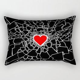 Heartbreaker III Black Rectangular Pillow