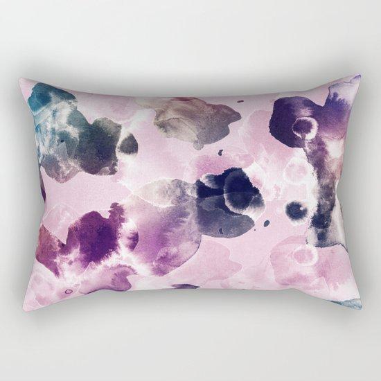 Ink Blooms Rectangular Pillow