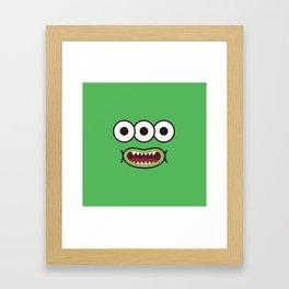 Monsticky Green Framed Art Print