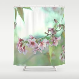 BLOOMING PLUM Shower Curtain