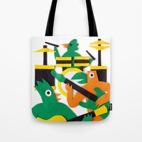 band Tote Bags featuring The Band by Jacopo Rosati