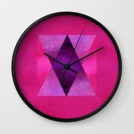 Pyramid Composition IV Wall Clock