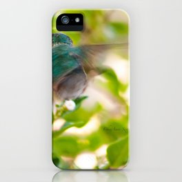 Hummingbird Summer Blur photography by CheyAnne Sexton iPhone Case