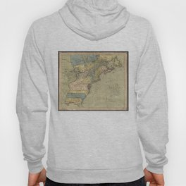 Vintage Discovery Map of The Americas (1771) Hoody