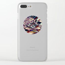 SWEEPING LINE PATTERN I-E Clear iPhone Case
