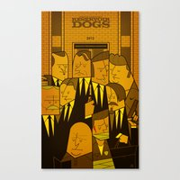 reservoir dogs Canvas Prints featuring Reservoir Dogs by Ale Giorgini