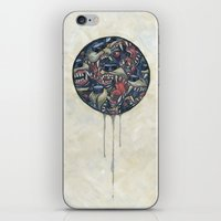 anxiety iPhone & iPod Skins featuring Anxiety by Mallory Hodgkin