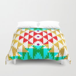 050 - traditional pattern interpretation with golden foil Duvet Cover