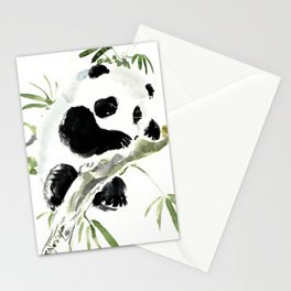 Baby Panda, Panda Bear Design, Asian ink Art Stationery Cards