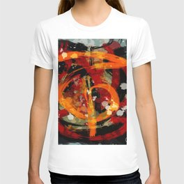 Into the dragon abstract  art T-shirt